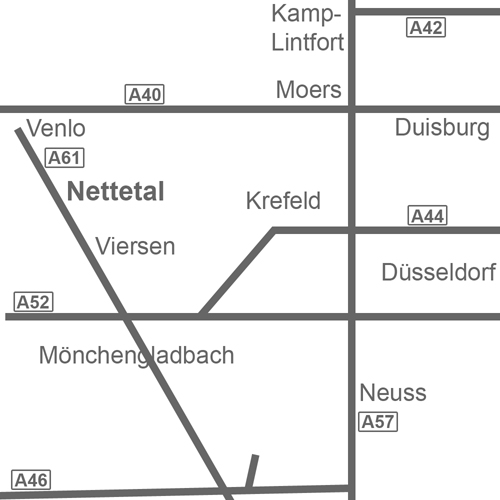 Anfahrt West NRW